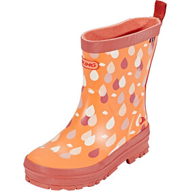 Viking Footwear Dråpe Rubber Boots Kinder coral